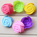 DIY Ice cream tubs Tray Pudding mold Fashion Color Rose Muffin cup mold (Random Color)