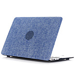 Denim  Rubber Coated Soft Touch Plastic Hard Cover Full Body Case  for Macbook Air 11