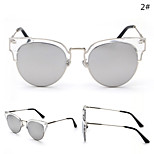 Sunglasses Women's Retro/Vintage / Fashion Cat-eye Black / Silver / Gold Sunglasses Half-Rim