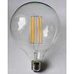 1 pcs kwb E26/E27 10W 8 COB 1000 lm Warm White / Amber G125 edison Vintage LED Filament Bulbs AC 85-265 V