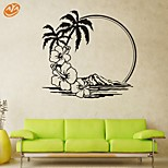 AYA™ DIY Wall Stickers Wall Decals, Sandy Beach PVC Wall Stickers