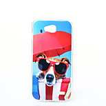 Glasses Dog Pattern TPU+IMD Soft Case for LG L90/H422/H502