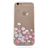 Flower Coloured Drawing Slim TPU Material Phone Case for iPhone 6/6S