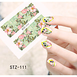1pcs  Water Transfer Nail Art Stickers  Colorful Flower Nail Art Design STZ111-115