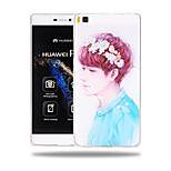 Schoolboy Pattern Soft TPU Back Cover Case for Huawei Ascend P8