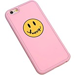 Happy Cartoon Face Silica Gel Wrapping Back Cover for iPhone 6 Plus/iPhone 6S Plus(Assorted Colors)