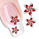 Fashion Flower Water Transfer Sticker Nail Art Decals Nails Wraps Watermark Nail Tools