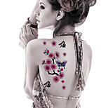 Fashion Temporary Tattoos Sexy Body Art Waterproof Tattoo Stickers Lovely Plum Blossoms 5PCS