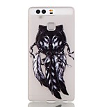 Wolf Feathers Heart Luminous Dream Catcher Pattern Sofe TPU Case for Huawei P9