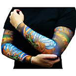 Half Tattoo Sleeves for Men 2016 New Arrival Cycling Cuff Arm warmers Sun Breathability Elastic Bicycle(Pair)
