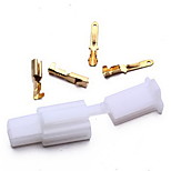 Set Motorcycle Motorbike Car Atv Scooter Boat 2 Way Connector 2.8Mm Terminal