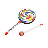 Lollipop Drum Plastic Red / Black / White Music Toy For Toys