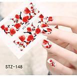 1pcs  Water Transfer Nail Art Stickers  Beautiful Flower Nail Art Design STZ145-150