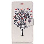 Pearl Grain Wallet Leather Case for Huawei Ascend P8 Lite - Tree and Bird