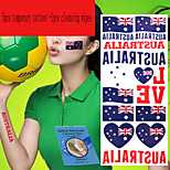 5Pcs Australia  National Flag  Temporary Tattoos +1Pcs Cleansing Wipes