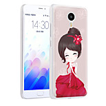 XIMALONG Romantic Girl  phone shell painted reliefs apply for MEI ZU M3 NOTE