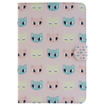 Cathead Pattern Combo Bracket TPU and PU Leather Material Case for iPad Mini 3/2/1