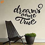 AYA™ DIY Wall Stickers Wall Decals, Dreams Come True English Words & Quotes PVC Wall Stickers