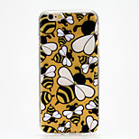 Diligent Bees Pattern IMD Printed TPU Soft Back Cover for iPhone 6/6S(Assorted Colors)