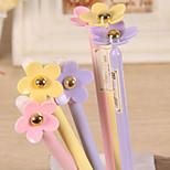 1PC Lovely Creative Wild Chrysanthemum Neutral Pen Ballpoint Pen Students Prizes(Style random)
