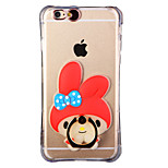 Glow in the Dark Red Hood Rabbit with Hand Ring and Strap PC Back Case for iPhone 6Plus/6SPlus 5.5