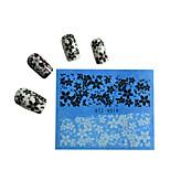 10pcs Black New Nails Art  Water Transfer Sticker  Manicure Nail Art Tips  STZV011-020