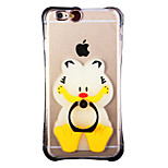 Glow in the Dark Bengal Tiger with Hand Ring and Strap PC Back Case for iphone6/6s