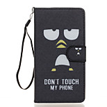 Don't Touch Me Pattern PU Leather Full Body Case with Stand for Wiko Fever