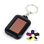 Mini Solar Power 3 LED Flashlight With Keychain
