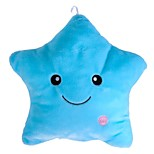 New Gift Glowing Colorful Luminous LED Star Plush Pillow Stuffed Toys