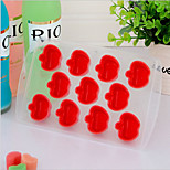 Apple Ice Mould Silicone Ice Cubes Tray Pudding Jelly Mold (Random Color)