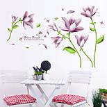 Purple Fantasy Flower wall stickers