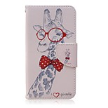 Giraffe Painted PU Phone Case for Huawei Y560