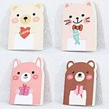1PC Cute Little Bear Notebook A6 Small Notebook Little Notebook (Random color)