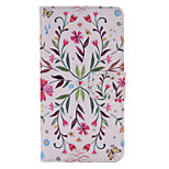 Colorful Flowers  Painted PU Phone Case for Huawei P8 Lite/P8