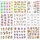 8PCS Nails Applique Color Cartoon Little Fairy Female