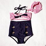 Sexy cute sailor kids bikini swimsuit girl swimwear made with children