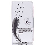 Cross Textured Leather Protective Stand Case for Acer Liquid Z520 - Feather and Birds