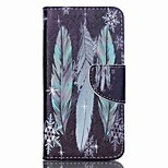 Cross Pattern PU Leather Wallet Case for Acer Liquid Z330 Z320 M320 M330 - Colorful Feather