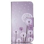 Cross Pattern PU Leather Wallet Case for Wiko Lenny2 - Dandelion Pattern