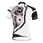 PaladinSport Men 's Short Sleeve Cycling Jersey DX617mechanical white 100% Polyester