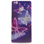 Butterfly Pattern TPU Phone Case For Huawei Ascend P9 / P9 Lite