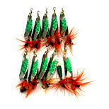 10pcs 60mm 4.7g Fishing Spinner Bait Metal Lure
