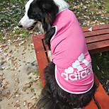 Gatti / Cani T-shirt-Estate / Primavera/Autunno-Di tendenza Sport-Blu / Rosa / Grigio- diCotone