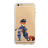 Anime Pattern TPU Transparent Phone Case Back Cover Case for iPhone6 Plus/6S Plus
