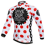 XINTOWN Polka Dots British Style Bike Team Cycling Suits Long Jersey Long Sleeve