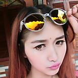 Women's Fashion MetalArrow Harajuku Atyle Personality Anti-Radiation Oval Sunglasses