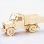 Dump Truck Model Wood 3D Puzzles Diy Toys