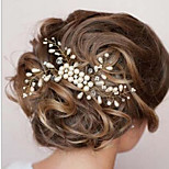 Women's Pearl Crystal Hair Comb Hat Jewelry for Wedding Party