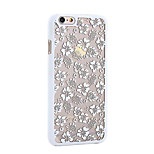 Retro Rose Pattern Openwork Relief Printing PC Material Phone Case for iPhone 6 PPlus /iPhone 6S Plus